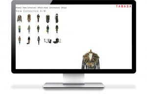 TABASAファッションホームページ作成下層ページ