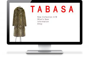 TABASAファッションWebサイト制作ホーム