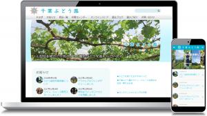 千葉ぶどう園セミレスポンシブサイト