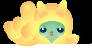 黄色い宇宙人ラインスタンプ