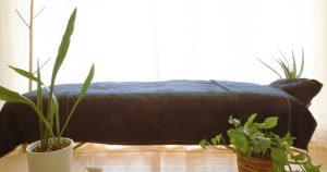 マグノリアの施術ベッドがある風景